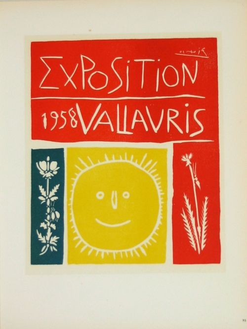 Lithograph Picasso (After) - Exposition  Vallauris 1958