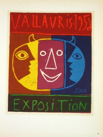 Lithograph Picasso - Exposition Vallauris 1958
