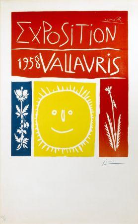 Linocut Picasso - Exposition Vallauris 1958