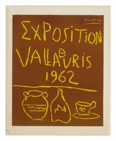 Linocut Picasso - Exposition Vallauris 1962