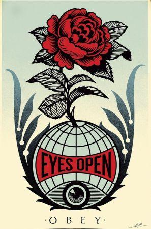 Lithograph Fairey - Eyes Open