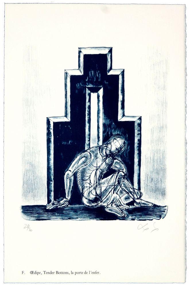 Lithograph Nørgaard - F. Œdipe, Tender Bottoms, la porte de l'enfer.