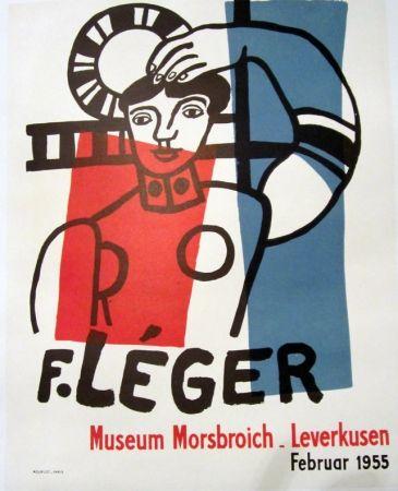 Lithograph Leger - F. Leger, Museum MOrsbroich_Leverkusen, Februar 1955