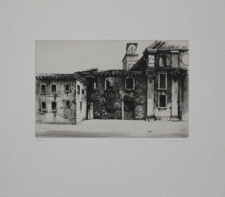 Etching Schwermer - Fabrikgebäude