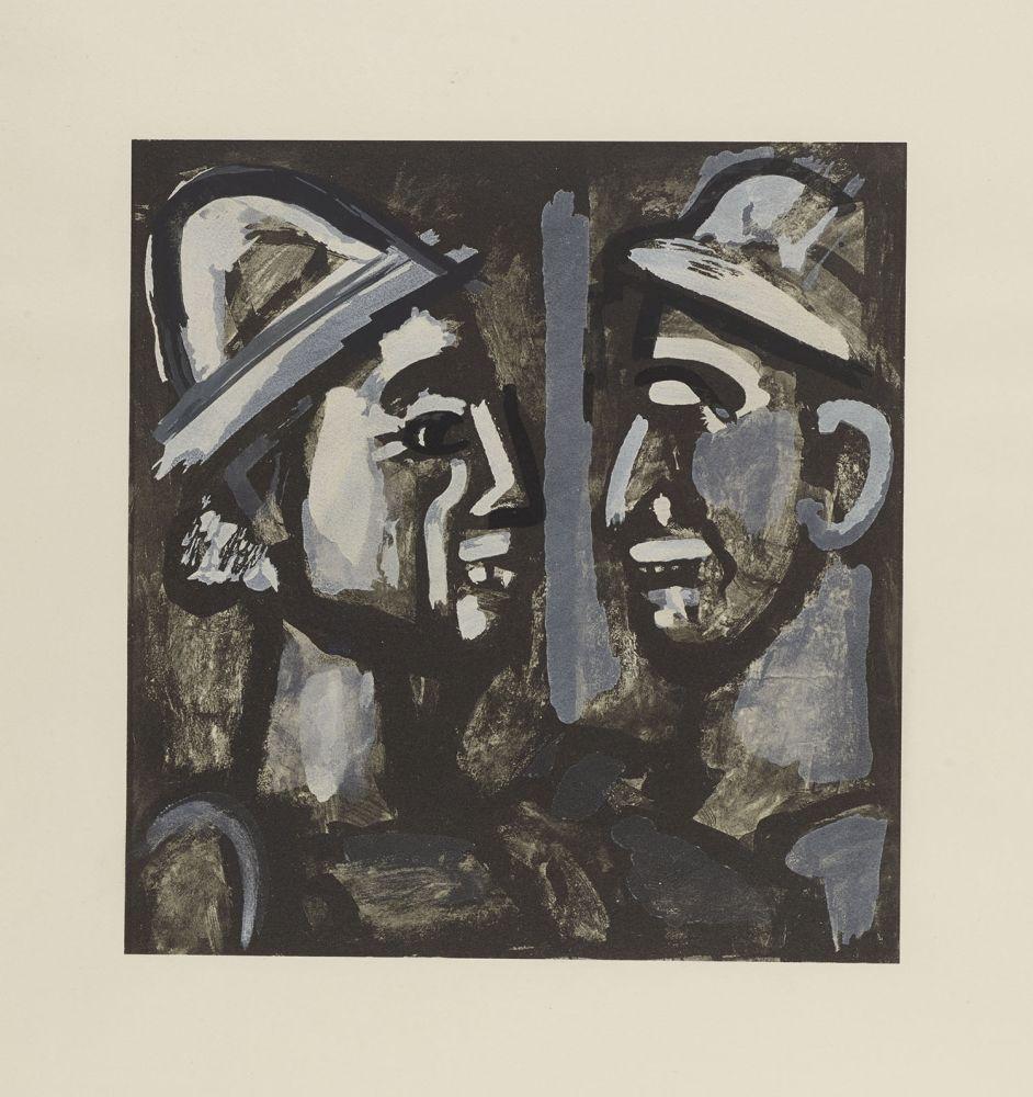 Lithograph Rouault - FACE A FACE, 1933