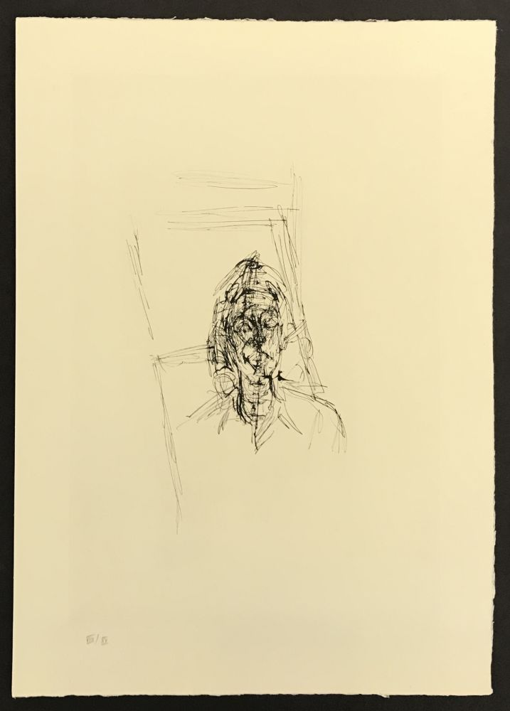 Etching Giacometti - Face from La Magie Quotidienne