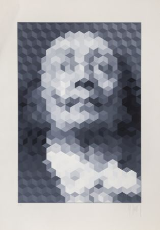 Screenprint Yvaral - Face of Dali