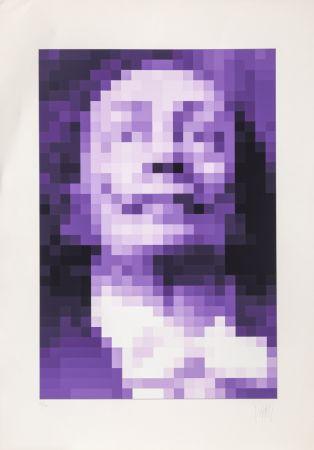 Screenprint Yvaral - Face of Dali - Purple