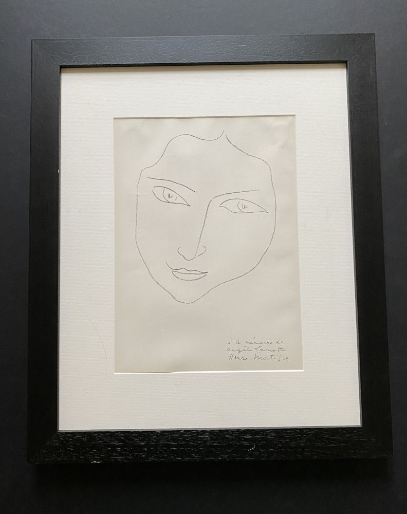Lithograph Matisse - Facing Woman