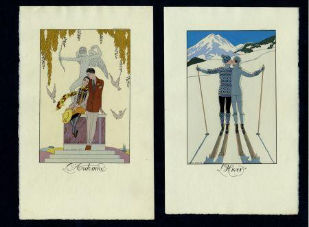 Illustrated Book Barbier - FALBALAS ET FANFRELUCHES. Almanach des modes présentes, passées et futures pour 1922, 1923, 1924, 1925 et 1926. Collection complète