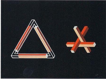 Lithograph Molins - Falsaciones del triangulo de Penrose 10