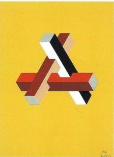 Lithograph Molins - Falsaciones del triangulo de Penrose 11