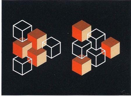 Lithograph Molins - Falsaciones del triangulo de Penrose 5
