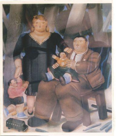 Lithograph Botero - Familia
