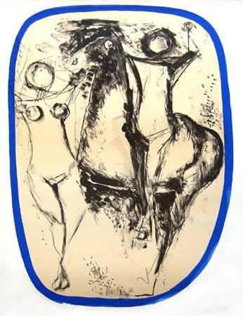 Lithograph Marini - Famille d'acrobates