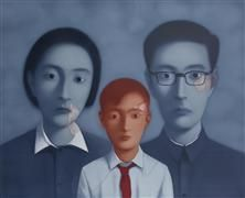 Lithograph Xiaogang - Familly