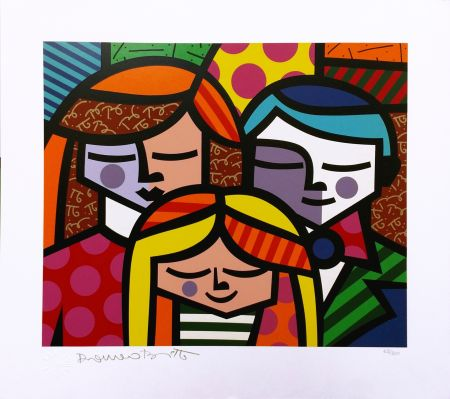 Screenprint Britto - FAMILY