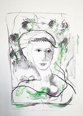 Lithograph Treccani - Fanciulla