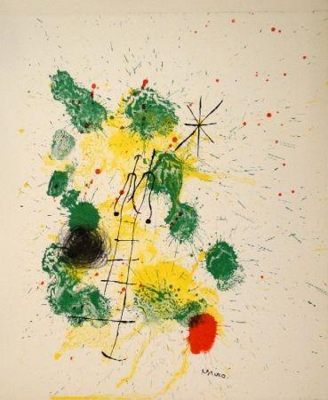 "Lithograph Miró - Farblithographie für ""Kronenhalle 1862-1922-1962"""