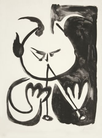 Lithograph Picasso - Faune musicien no. 5 (Musizierender Faun Nr. 5)