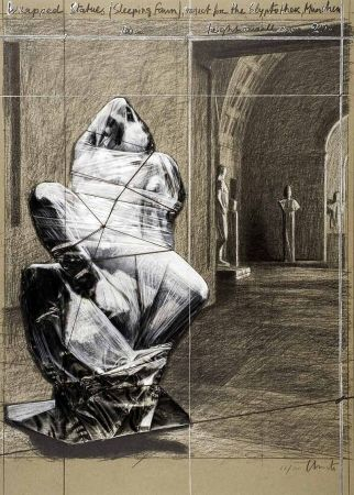 Lithograph Christo - Fauno durmiente