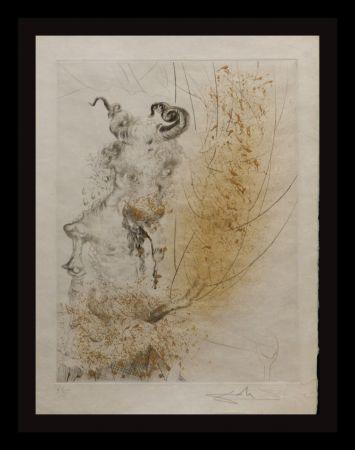 Etching Dali - Faust Tete de Veau