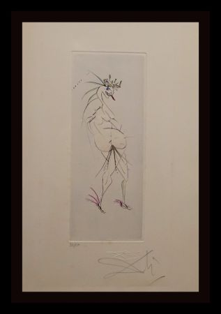 Etching Dali - Faust Vignettes Grotesque