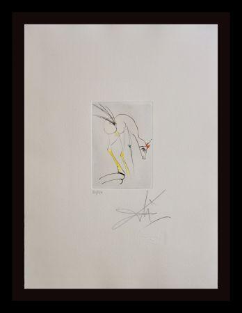 Etching Dali - Faust Vignettes La Biche=the Dog