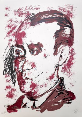 Screenprint Lüpertz - Federico Garcia Lorca