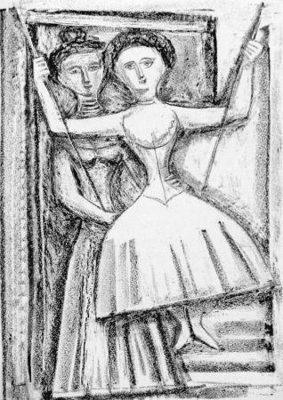 Lithograph Campigli - Fedra I