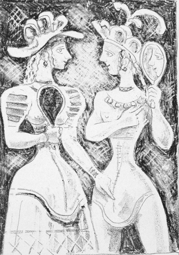Lithograph Campigli - Fedra II