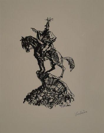 Lithograph Kubin - Feldherr