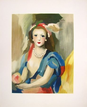 Lithograph Laurencin - Female Bust