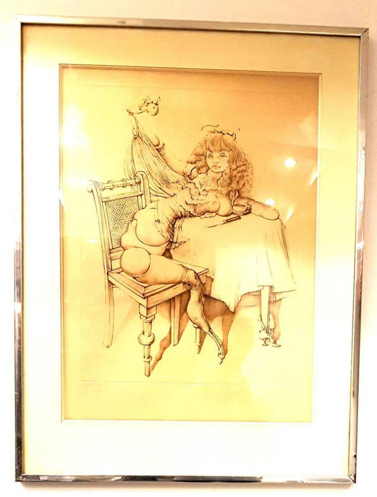 Lithograph Bellmer - Femme