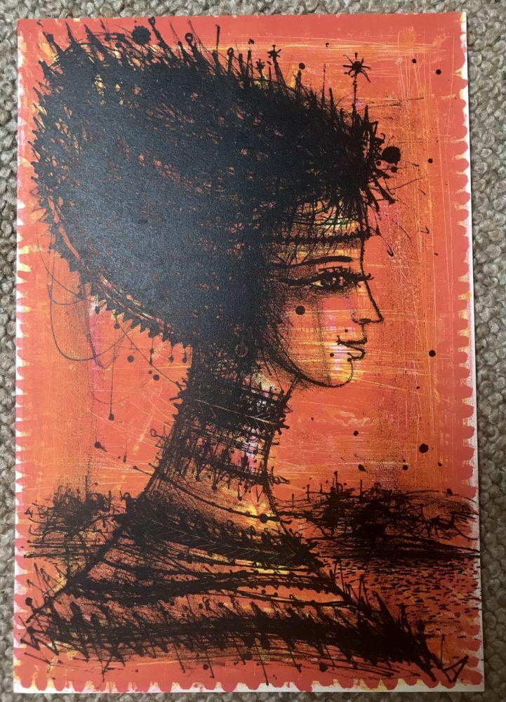 Lithograph Carzou - Femme