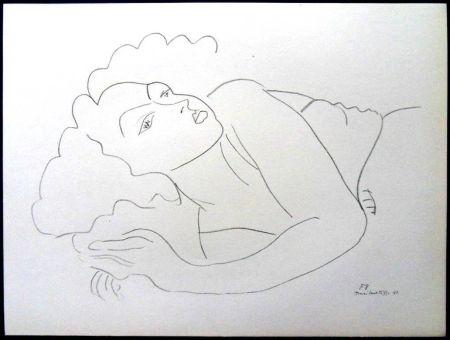 Lithograph Matisse - Femme