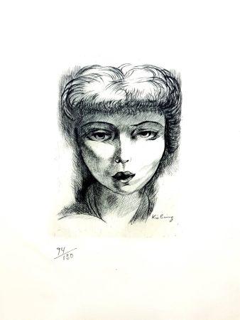 Lithograph Kisling - Femme