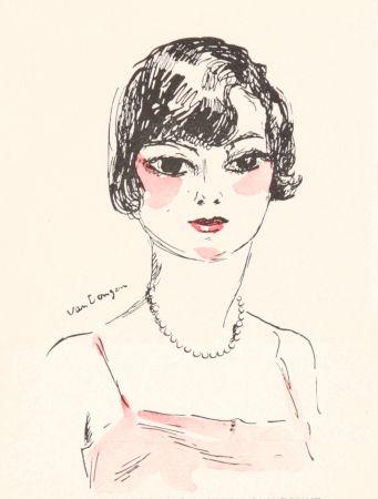 Lithograph Van Dongen - Femme- Salon D'Automne, 11929
