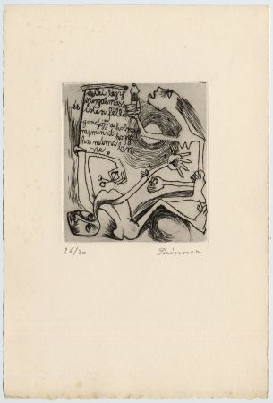 Engraving Prinner - FEMME À LA BOUGIE (1938)