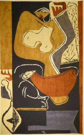 Lithograph Le Corbusier - Femme à la main levée