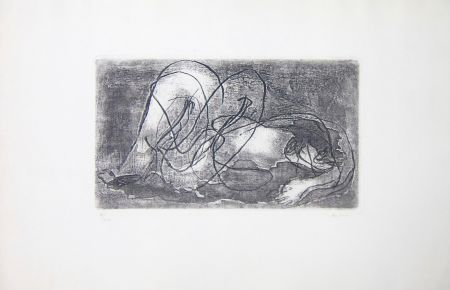 Etching And Aquatint Fautrier - Femme étendue IV