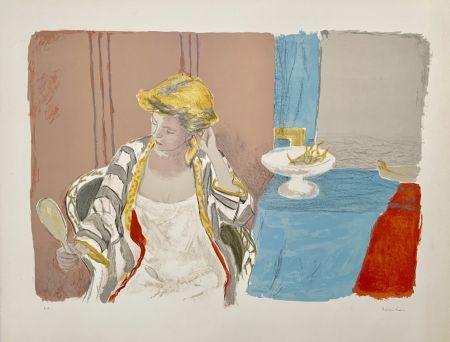 Lithograph Brianchon - Femme a sa Toilette