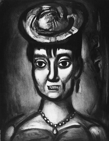 Etching And Aquatint Rouault - Femme affranchie è quatorze heures chante midi