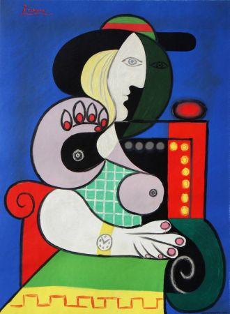 Lithograph Picasso - Femme assise avec Montre-Bracelet