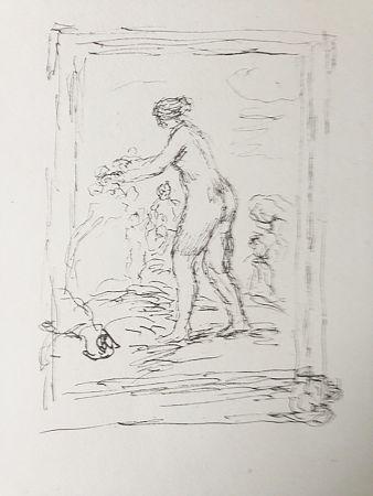 Lithograph Renoir - Femme au cep de vigne