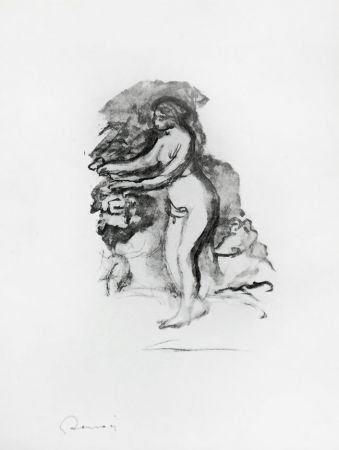 Lithograph Renoir - 	Femme au cep de vigne (Woman by the Grapevine)