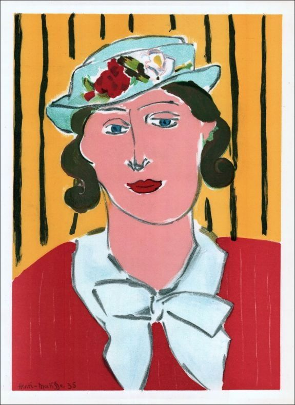 Lithograph Matisse - Femme au chapeau