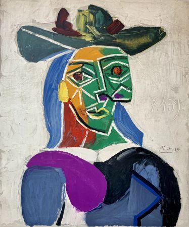 Lithograph Picasso - Femme au Chapeau