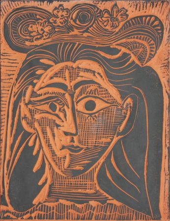 Ceramic Picasso - Femme au Chapeau Fleuri (A.R. 521)