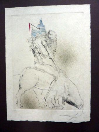 Drypoint Dali - Femme Au Cochon (Faust)